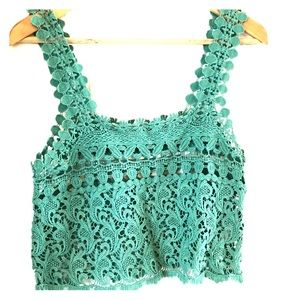 Staring at Stars Crocheted Crop Top